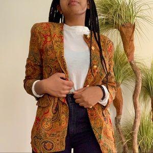 Vintage Jones New York Paisley Print Blazer Jacket